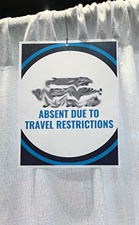 Photo of Travel Restrictions sign
