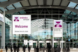 View of the entrance to analytica virtual