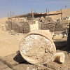 Photo of the old cheese in its container at the excavation site in Egypt.
